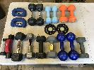 Assorts Dumbbells; 1.25, 2, 3, 5, 8, 10 lbs. 1 Lot.