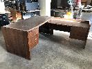 Wooden Desk with Return. 1 Piece.